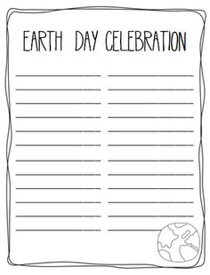 primary practice: Earth Day Word Building