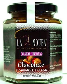 La Nouba - Low Carb Chocolate Hazelnut Spread - like Nutella    low carb low carb.  Gotta try it!