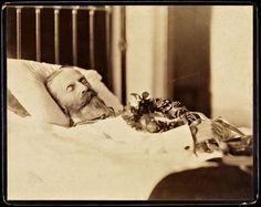 Post Mortem Photo of the Emperor Friedrich III / 1813 - 1888 - Germany