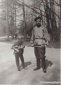 Tsar Nicholas II (Nikolai Alexandrovich Romanov) (1868-1918) Russia 5th child only son Tsarevich Alexei Nikolaevich Romanov (1904-1918) Russia