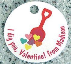 I dig you, Valentine! favor tags