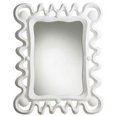 Arteriors Primitives Mirror, available at #polkadotpeacock. #peacocklove #arteriors
