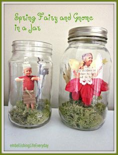 fairy gnome photo jars