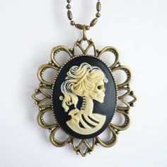 Lolita Cameo Necklace Ivory now featured on Fab.