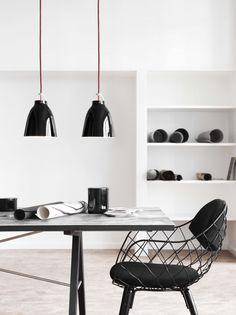 interior design, caravaggio, chairs, interiors, lamp, black white, girl style, black decor, pendant lights