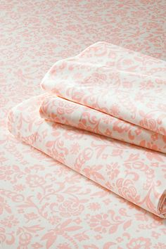 Girls' 200-count Percale Print Multi Stripe Sheet Set from Lands' End