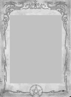 Book of Shadows:  #BOS Blank Dragons page.