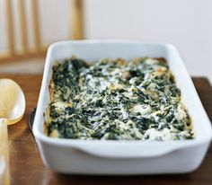 veggi, spinach recipes, gratin recip, food, spinach gratin