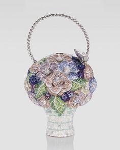 Judith Leiber Crystal Flower Basket Bag