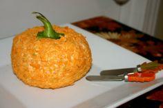 Pumpkin Shaped Cheese Ball
