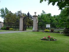 Another photo of the entrance gates to BROOKSIDE CEMETERY - Watertown, NY.  The gates were erected in honor of Col. George Flower --- First Mayor of Watertown. 1905-06  http://brooksidecemetery.net/