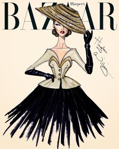 #Hayden Williams Fashion Illustrations #'The New Look' by Hayden Williams
