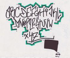 Guardian Graffiti Art: Graffiti Alphabet Letters on Paper by Atomicmufin