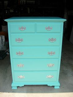 Spray paint color is Valspar Seafarer. I have never seen this color before and I love it!