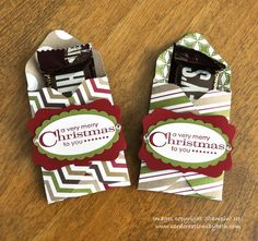 Stampin' Up! Christmas by Card Creations by Beth: Envelope Punch Board Treat Holder