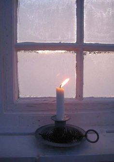 lone white candle