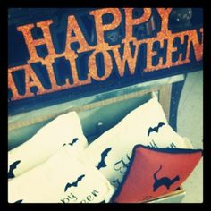 """Nothing says """"Happy Halloween"""" like these delightfully cozy pillows at Tai Pan Trading"""
