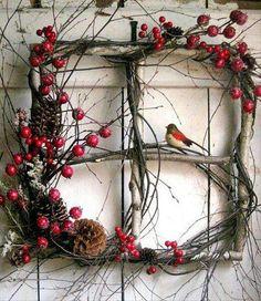 Rustic wreath alternative