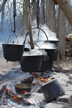"Cauldrons over the fire.  // "" fire burn and cauldron bubble..."""