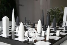 skyline chess set brings london to world's most popular game