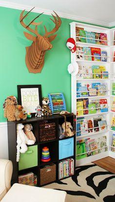 Bookshelves for the nursery