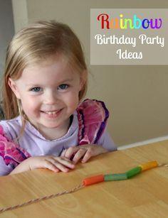 Rainbow Birthday Party Ideas for Kids