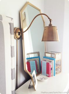 Brass Lighting & an 80's Thrift Store Mirror - Aka: A Master Bedroom Update #houseofsmiths #sconces #brass