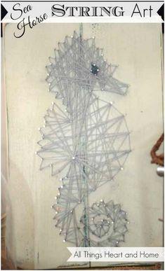 DIY String Art! #Seahorse #summercraft