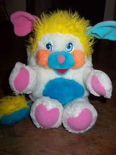 "Vintage 1986 Mattel ""Puffball"" Popple Plush Stuffed Animal Doll Toy Very Clean 