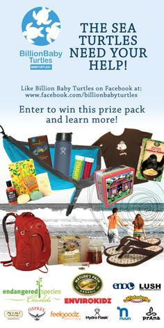 Help Save #SeaTurtles! Visit us on Facebook to learn more and enter to win great prizes too. www.facebook.com/billionbabyturtles