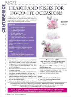 This tiered centerpiece is the perfect way to display your favors. Great for any Occasion!         A Nancyfangles Design