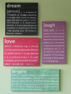 Awesome dorm decor at PBteen! Love these Definition canvas pieces Diy Crafts, Room Crafts, Craft Ideas