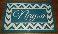 Love this chevron patterned sign.  And turquoise is my favorite color