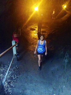 This is me walking out of the Lava Tube on the Big Island Hawaii!
