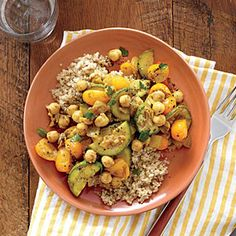 Chickpea and Vegetable Tagine | Cooking Light #myplate #protein #veggies #fruit