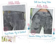 MiloMila Doll Jeans Sewing Videos