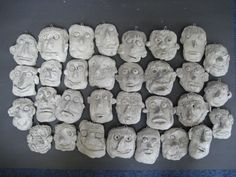 clay faces, small version