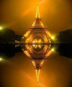 Eiffel Tower, Paris, France...