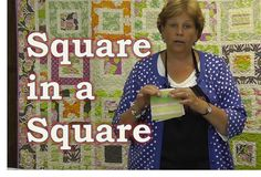 Fantastic youtube quilt tutorial by Jenny Doan from the Missouri Star Quilt Company.