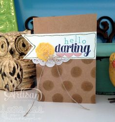 Hello Darling - aww | Jane Lee http://janeleescards.blogspot.com