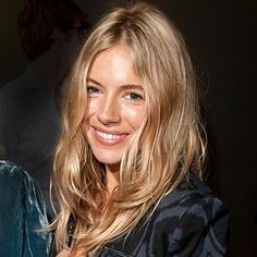 blonde sienna miller, celebrity hairstyles, color, blondes, wave, beauti, beauty, bed head, beach hair
