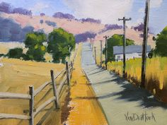 The Way Home - Award Winning Original Oil Painting of a Country Road  vanderhoekart.blogspot.com