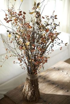 berri, craft, fall decor, centerpiec, autumn, branch, harvest decorations, floral arrangements, pottery barn