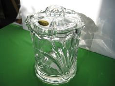 Block Nassau Biscuit Barrel Jar 24% Lead Crystal Made in Czech Republic #teamsellit
