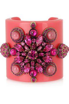Plexiglass and crystal cuff