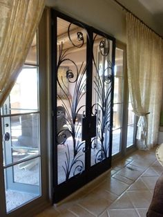 Elegant Interior Screen Door Pair