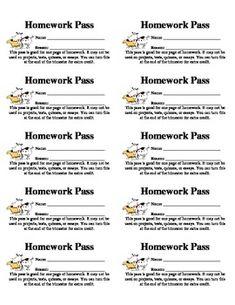 Template for a homework pass