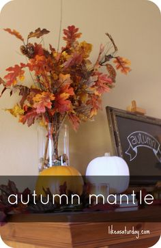Fall Mantel | Like a Saturday