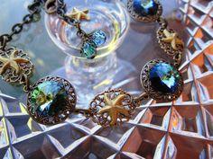 STARFISH  ANKLET Swarovski Crystal by alkazdesign on Etsy, $30.00