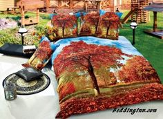 #maple #cotton #bedding Flourishing Red Maple Tree Print 4-Piece Cotton Duvet Cover Sets  Buy link->http://goo.gl/TDPlGT Discover more->http://goo.gl/IvwXfE Live a better life, start with @beddinginn